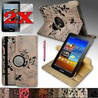 For Samsung Galaxy Tab2 7.0 PU Leather Case Cover 360 Rotating Stand USA Seller