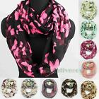Fashion Women's Butterfly Soft Infinity 2Loop Cowl Eternity Endless Casual Scarf