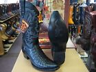 LOS ALTOS BLACK GENUINE CROCODILE SNIP TOE WESTERN COWBOY BOOT EE 341977