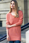 La Redoute Apricot Peach Long Summer Jumper Sweater Short Knitted Dress