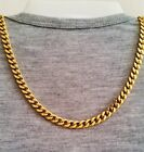 "24"" 26"" 30"" Men's Stainless Steel 6mm 24k Gold Plated Cuban Link Chain Necklace"