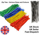 100- Small Nylon, Plastic, Cable ties, Zip ties, Tie Wraps, Cable tidy, Coloured