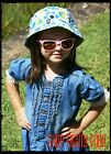 Kids Children Girls Soft Denim Short Sleeve Dress with Lace Edging Sizes 2-6