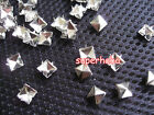 Silver Pyramid Spike Rivets Studs Punk Rock Spots Bag Shoes Leather Crafts