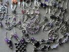 Various ANGEL WING EARRINGS goth Wicca AMETHYST iolite CHAROITE jade gemstone