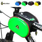Cycling Bike Bicycle Frame Pannier Front Tube Pouch Bag Mobile Phone Holder 2L