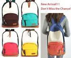 Boys Girls Canvas Backpack Rucksack Sports Travel School Bags-Double Colors
