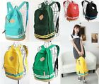 Boys Girls Canvas Backpack Rucksack Sports Travel School Bags-7 Colors