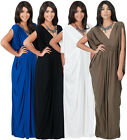 NEW Womens Elegant Sleeveless Grecian VNeck Long Cocktail Maxi Dress S M L XL 2X