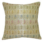hg01a Blue Pink Yellow Green Brown Pale Gold Damask Cushion Cover/Pillow Case