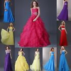 Princess Layered Wedding Bridesmaid Cocktail Prom Ball Gowns Evening Party Dress