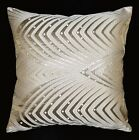 hj02a Pale Nude Silver Peacock Pattern Cushion Cover/Pillow Case Custom Size