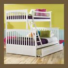 Columbia White Bunk Bed Twin over Full storage or trundle