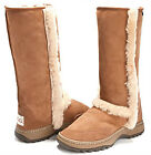 "Moonlight Tall Hiking Outdoor Ugg Boots 35.5cm/14"" high Australian Sheepskin"