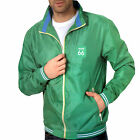 SALE ITEM WAS £39.99 Route 66 Herren Mens Green Windbreaker Jacket Coat Rain Mac