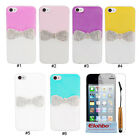 Fashion Rhinestone Bling Cute Bow Hard Back Case Cover Skin For iPhone 4 4G 4S