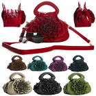 New Faux Leather Womens Top Multiple Zip Pockets Designer Chic Small Handbag