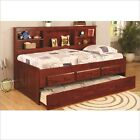 Twin Bookcase Daybed with Trundle and Drawers