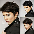 Fashion Wigs Short Dark Brown, Black Women's Natural Hair Wigs Optional Color
