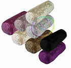 mp+6 Colors Shimmer Velvet  Fabric Folds Pattern Bolster Yoga Case Neck Roll