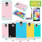 Fashion 2 in 1 Hybrid PC TPU Back Case Cover Skin For Samsung Galaxy S5 V i9600