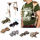 New Horizontal Tactical Shoulder Pistol Hand Gun Holster with Double Mag Pouch