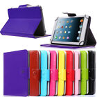 Folding folio leather case cover for 10.1 HANNSPREE SN1AT71BUE Tablet