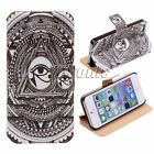 PU LEATHER WALLET FOLIO CASE COVERS POUCH FREE FLIP SCREEN PROTECTOR iPhone 5 5s
