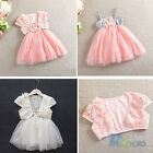 Summer Baby Toddler Girls Demin two-piece set Lace Tulle Princess Tutu Dress