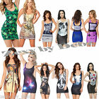 Ladies Women's Dress Printed Designs Silk Touch One-Size Fits: 10 12 14