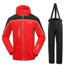 New Mens Outdoor Ski Snow Suit Windproof Jackets Coats+Breathable Pants Trousers