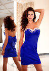 Ladies Womens Wedding Bridesmaid Party Evening Formal Bow Prom Mini Dress