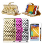 Bright PU Leather Wallet Flip Stand Case Cover For Samsung Galaxy Note 3 N9000