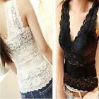 Hot Series Sexy Women's Chic Lace Flower Tops Sleeveless Classics T-Shirt