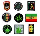 # BOB MARLEY drugs cannabis rasta - OFFICIAL SEW ON PATCH patches reggae logo