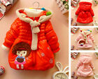 Kids Toddlers Girls Hooded Zip Winter Coat Jacket Hoodie Parka Outwear Clothes