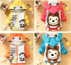 Kids Baby Toddler Boys Girls 3D Animal Monkey Winter Hoodies Coat Jacket Outwear