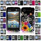WHOLESALE LOT For LG Optimus Zone 2 L34C Fuel Hard Snap on Two Piece Cover Case