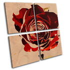 Abstract Rose Love Floral MULTI CANVAS WALL ART Picture Print VA