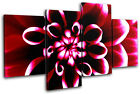 Flowers Floral MULTI CANVAS WALL ART Picture Print VA