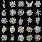 Fashion Vintage Nice Rhinestone Crystal Wedding Bouquet Metal Flower Brooch Pin