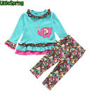 Baby Girls Clothing Set Floral Kids Sets Baby Cotton Suit Infant Outfits T0361