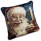 "Dona Gelsinger For Winter Lane 17"" x 17"" Pillow - Christmas Candle Santa"