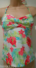 Floral Print Padded Halter Neck Swim Costume Wear Top (NEW) Size Medium-$39.50