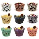 12/25/50x Butterfly Cupcake Wrappers Cases Laser Cut Wedding Birthday Shower