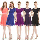 Ever Pretty Short Sleeve Bridesmaid Dress Simple Design Party Dress 03990
