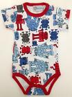 New Baby Boy Onesie Jumpsuit with Cute Robot Pattern Sz 000 - 18 mth RRP $25