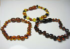 Baltic Amber Baby Anklet/Bracelet . Twist screw clasp. 5.5 inch. long
