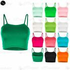 Womens Ladies Sleeveless Strappy Bandeau Plain Camisole Boobtube Bralet Crop Top