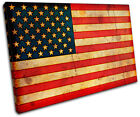 Abstract American Maps Flags SINGLE CANVAS WALL ART Picture Print VA